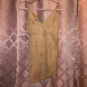 TAN SUEDE FOREVER 21 DRESS